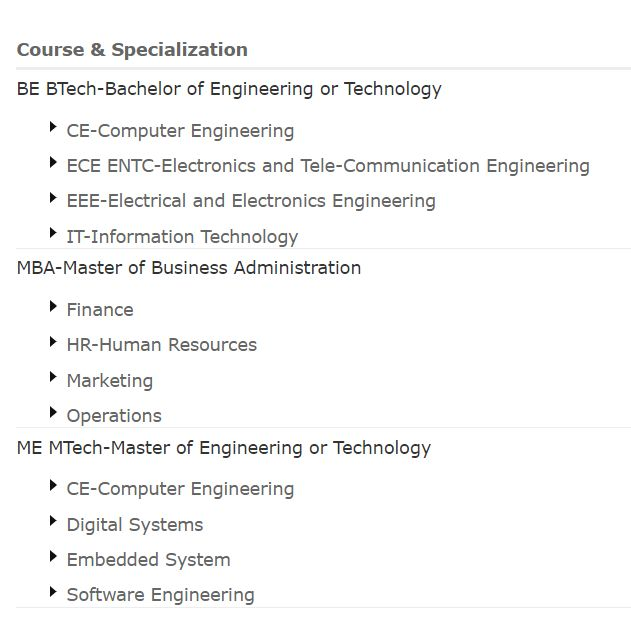 Courses: