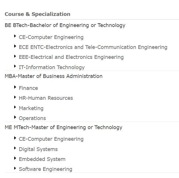 Courses: