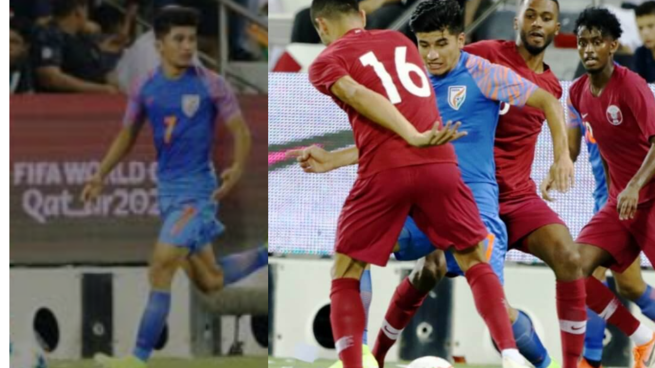 """भारतीय फुटबाल टीम ने रचा इतिहास,अनिरुद्ध थापा का कहना है कि कतर के खिलाफ ड्रा एक """"भारतीय फुटबॉल के लिए विकास"""" है"""