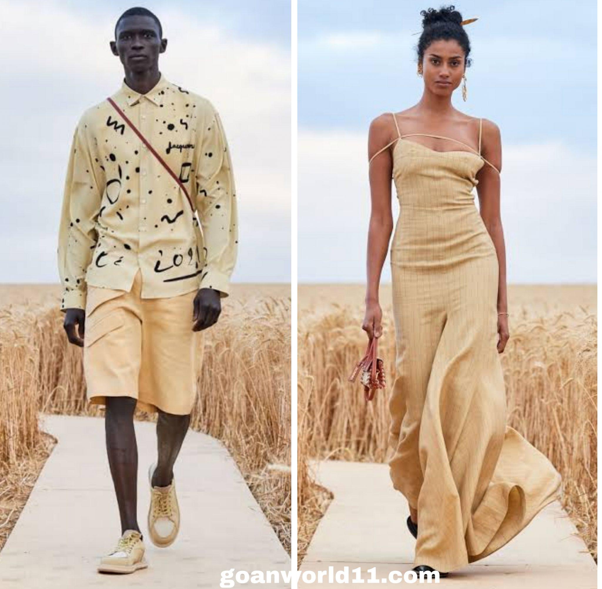 गेहूं के खेत मे Jacquemus फैशन शो पुरी दुनया देकती रह गयी